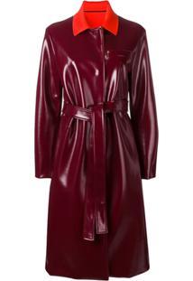 Emilio Pucci Trench Coat Com Cinto - Vermelho