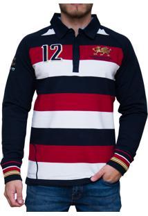 Blusa Kevingston Stockport Rugby Vermelha Listrado