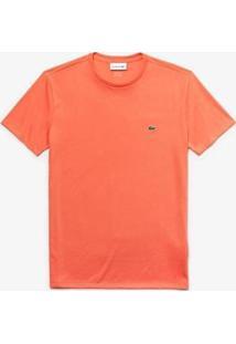 Camiseta Lacoste Masculino - Masculino-Laranja Claro
