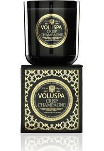Vela Crisp Champagne Coleção Maison Noir Copo 100 Horas Voluspa