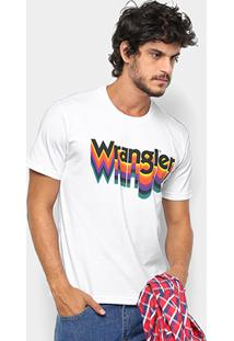 Camiseta Wrangler Estampa Arco-Íris Masculina - Masculino