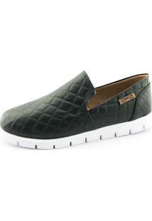 Tênis Tratorado Quality Shoes Feminino 004 Matelassê Preto 35