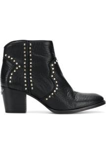 Zadig&Voltaire Ankle Boot Com Tachas - Preto