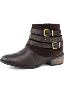 Bota Elegancy Ankle Bootstraps Cafe