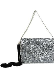 Bolsa Clutch Le Diamond Acrílico Envelope Branco
