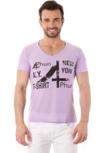 Camiseta 4Phun New York Roxo