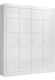 Armário Zoe 4 Portas Convencionais Branco Fosco