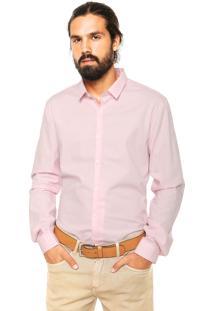 Camisa Calvin Klein Jeans Slim Fit Rosa