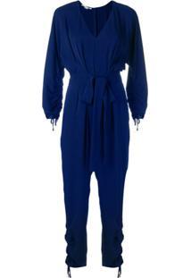 Stella Mccartney Macacão Com Decote Profundo - Azul