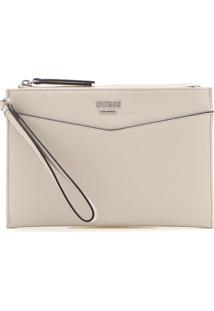 Clutch Guess Logo Off-White