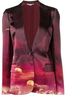 Stella Mccartney Jaqueta Com Estampa Sunrise - Roxo