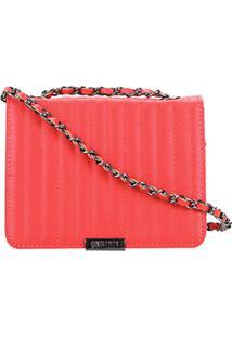 Bolsa Santa Lolla Mini Bag Matelassê Alça Corrente Feminina - Feminino-Coral