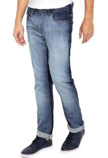 Calça Jeans Reserva Slim Estonada Azul