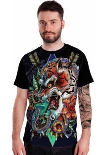 Camiseta Stompy Tiger Tattoo - Masculino