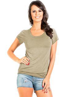 T-Shirt Douglas Harris Básica Caqui