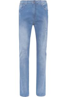 Calça Masculina Five Pockets Slim Straight - Azul