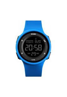Relógio Skmei Women -1445- Preto E Azul