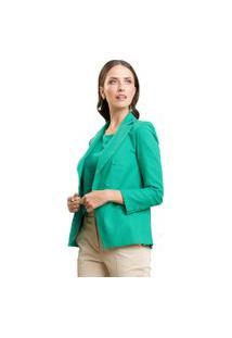 Blazer Mx Fashion Alfaiataria De Linho Rafaella Verde