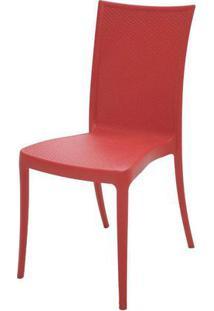 Cadeira Laura Fibra De Vidro Cor Vermelho