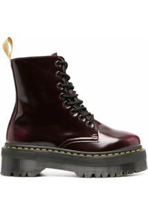 Dr. Martens Ankle Boot Jadon Ii - Vermelho