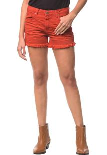 Shorts Color Five Pockets - Vermelho - 38