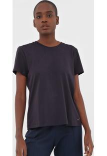 Camiseta Tommy Hilfiger W S/S Vnk New Fave Core Azul-Marinho