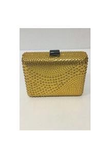 Bolsa Clucht Dourada