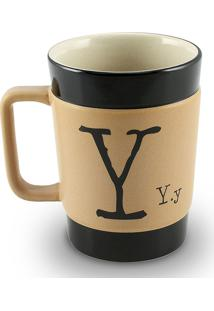 Caneca Coffe To Go- Y 300Ml-Mondoceram - Pardo