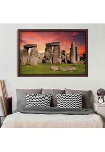Quadro Love Decor Com Moldura Stonehenge Madeira Escura Médio