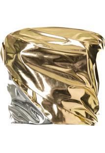 Maticevski Blusa Quicksilver Bicolor - Dourado