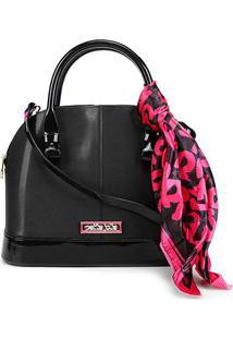 Bolsa Petite Jolie J-Lastic Alisha Bag Feminina - Feminino-Preto+Pink