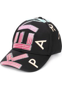 Kenzo Chapéu Com Estampa De Logo - Preto