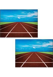 Jogo Americano Colours Creative Photo Decor - Pista De Atletismo - 2 Peças