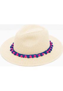 Chapéu De Praia Com Pompom