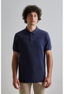 Camisa Polo Reserva Básica Masculino - Masculino-Marinho