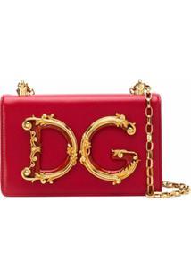 Dolce & Gabbana Bolsa Tiracolo Dg Girls Com Logo - Vermelho