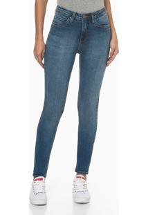 Calça Jeans Feminina Super Skinny Pesponto Triplo Azul Médio Calvin Klein Jeans - 36