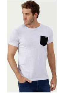 Camiseta Masculina Bolso Manga Curta Rock & Soda