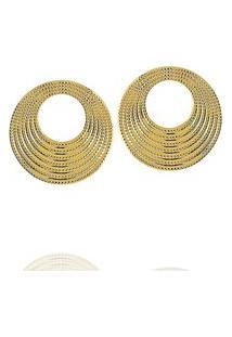 Brinco Formas Circular Ondas Dourado