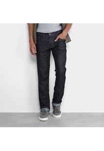 Calça Jeans Slim Biotipo Elastano Escura Masculina - Masculino-Azul Escuro