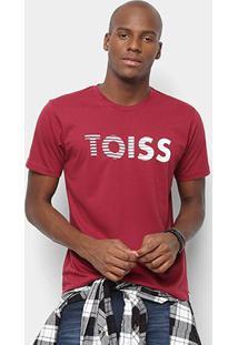 Camiseta Toiss Logo Riscado - Masculino-Bordô