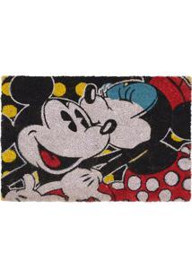 Capacho Minnie & Mickey® Beijo- Preto & Vermelho- 1,Mabruk