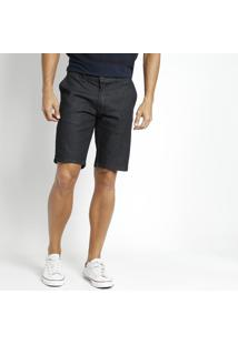 Bermuda Jeans Com Bordado Da Marca - Azul Escuroogochi