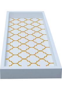 Bandeja Para Lavabo Geometrica 13X29-Kapos - Branco