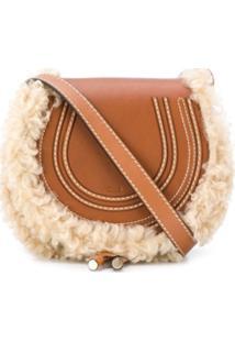 Chloé Marcia Saddle Bag - Marrom