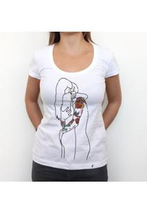 Casal Tatuado - Camiseta Clássica Feminina