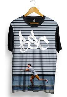 Camiseta Bsc Boy Skateboard Full Print - Masculino-Preto