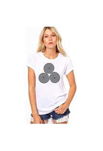Camiseta Coolest Circulos Expiral Branco