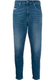 Diesel Calça Jeans Skinny Com 5 Bolsos - Azul
