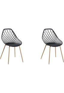 Conjunto Com 2 Cadeiras Cloe Preto